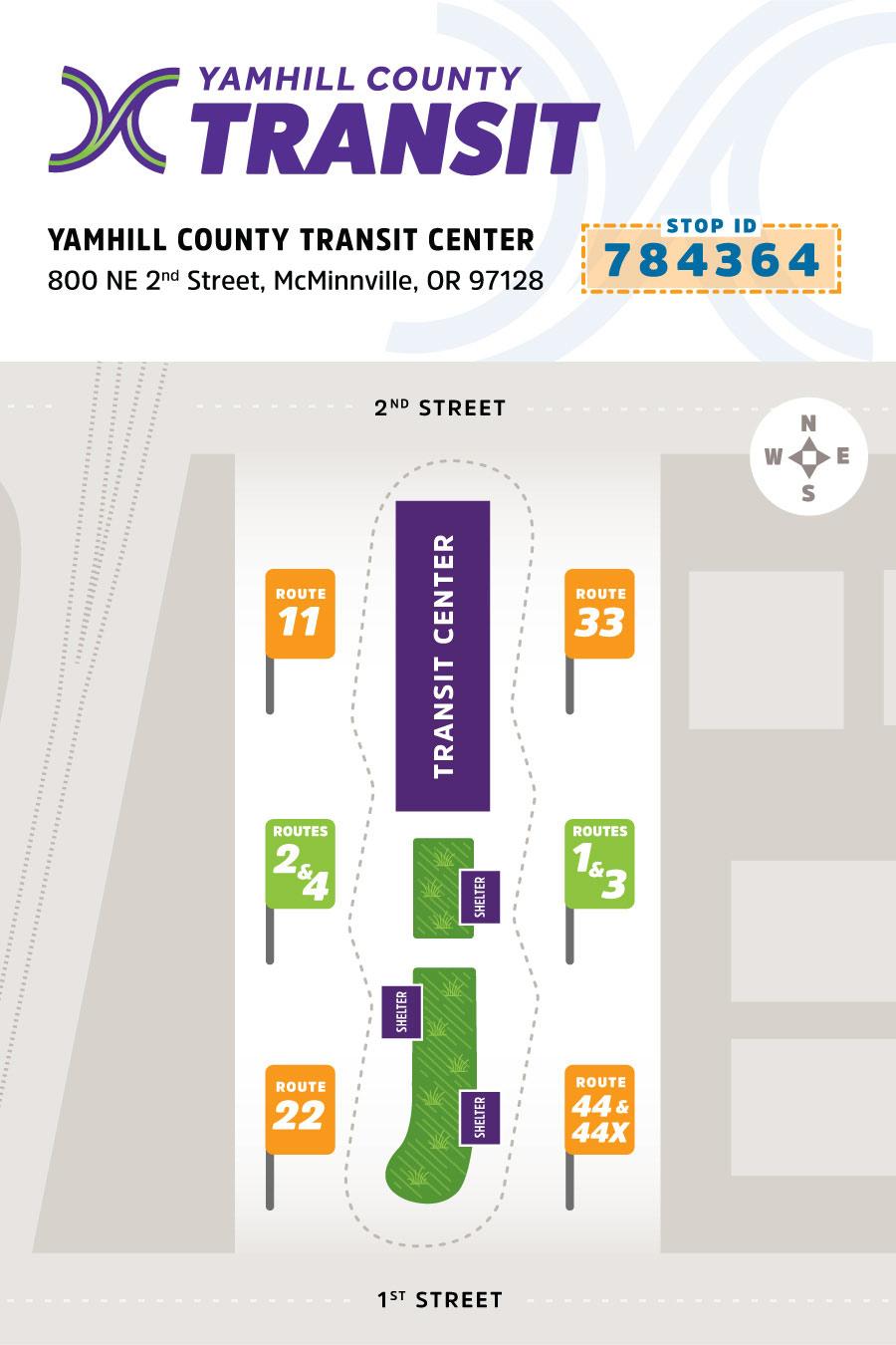 Yamhill County Transit • Transit Center Map