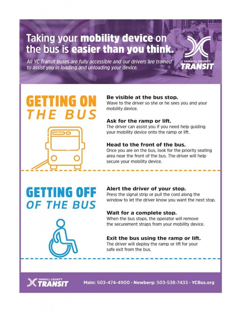 Mobility devices are welcome on Yamhill County Transit buses