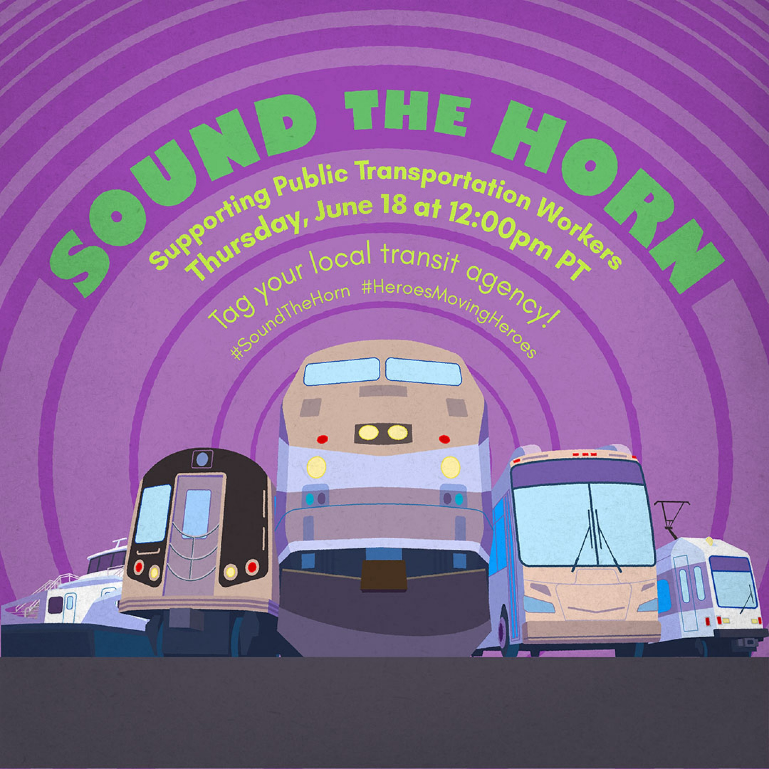 Sound the Horn Supporting Public Transportation Workers